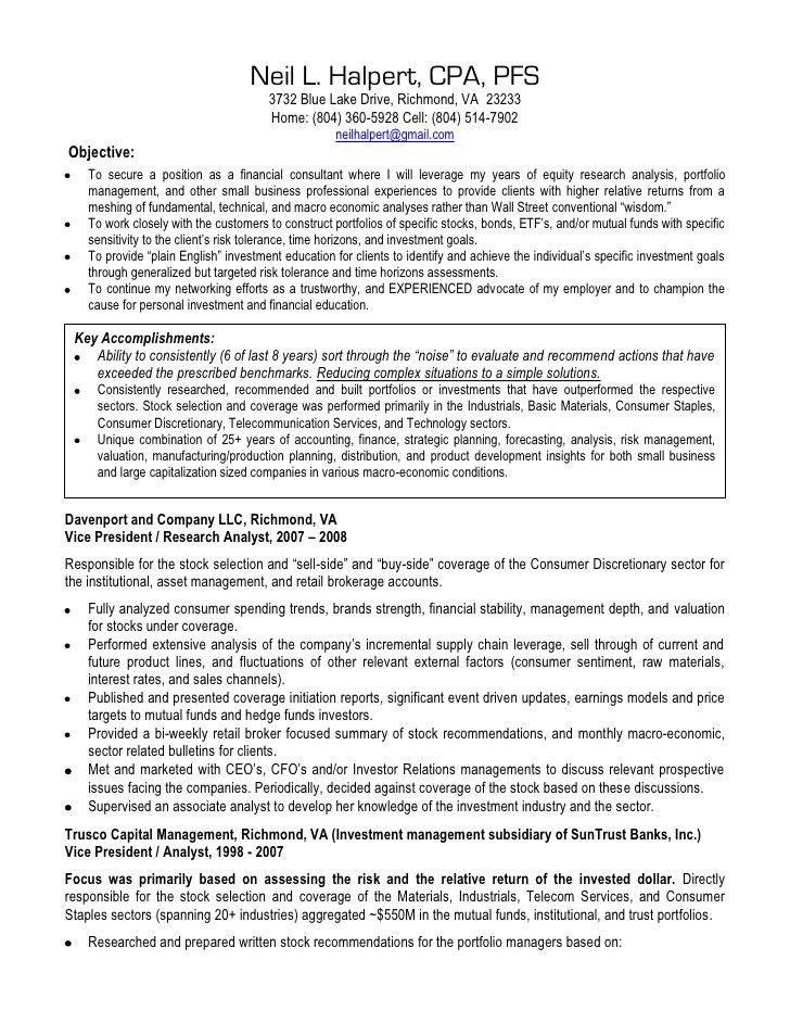 Hedge Fund Resume Sample Wso Template For