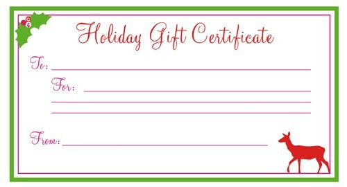 Printable Gift Certificates Free Template Click Here For Full - gift certificate free templates