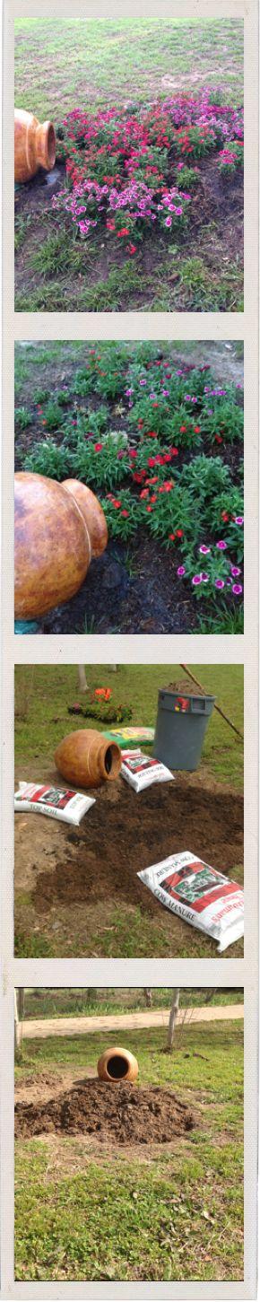Creative Spilled Flower Pots Gardens Pinterest Flower