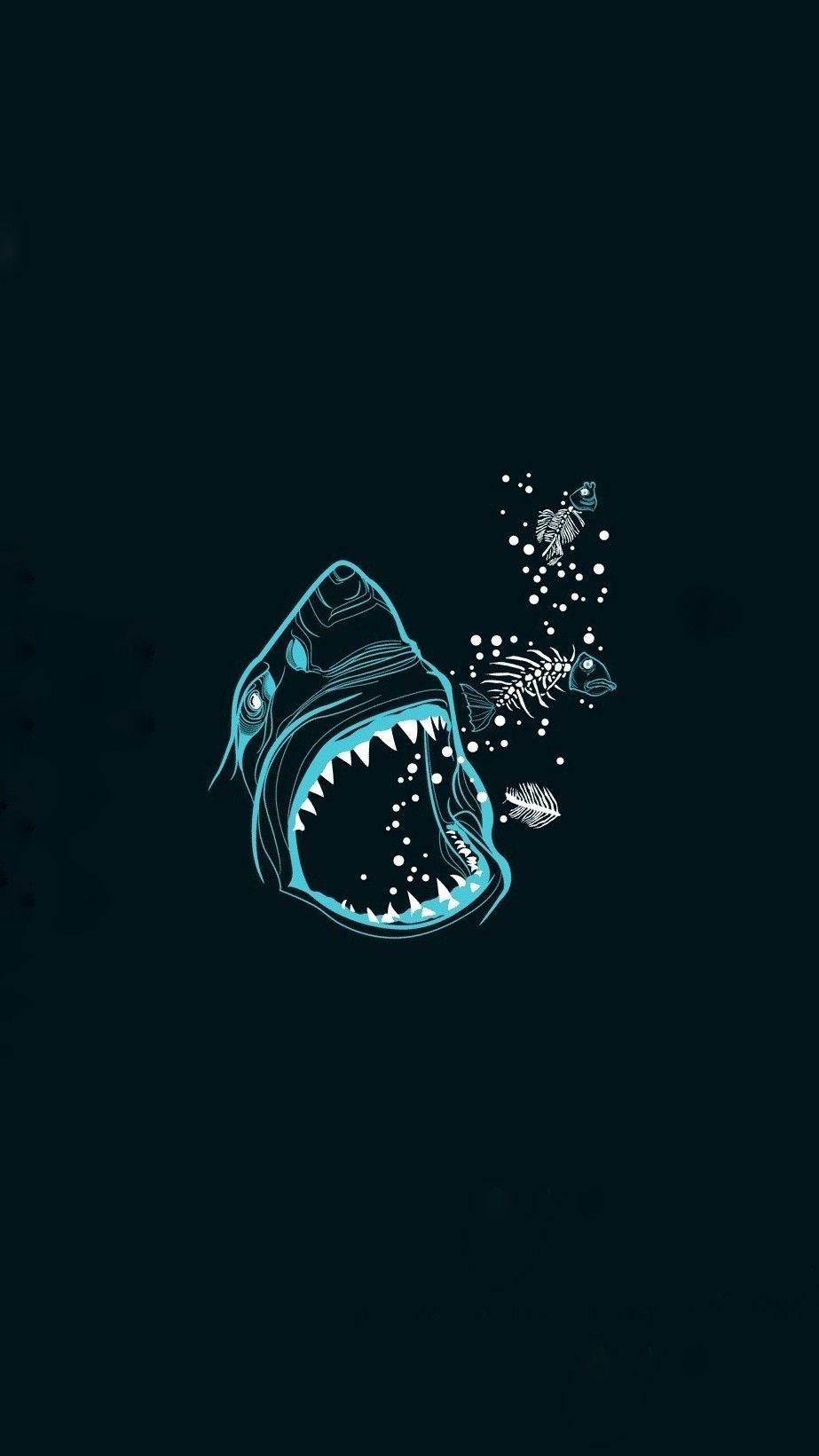 Fondo Tiburon En 2019 Fondos De Escritorio Minimalista