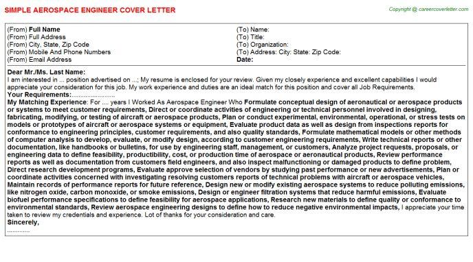 Aerospace Design Engineer Cover Letter Cvresumecloudunispaceio