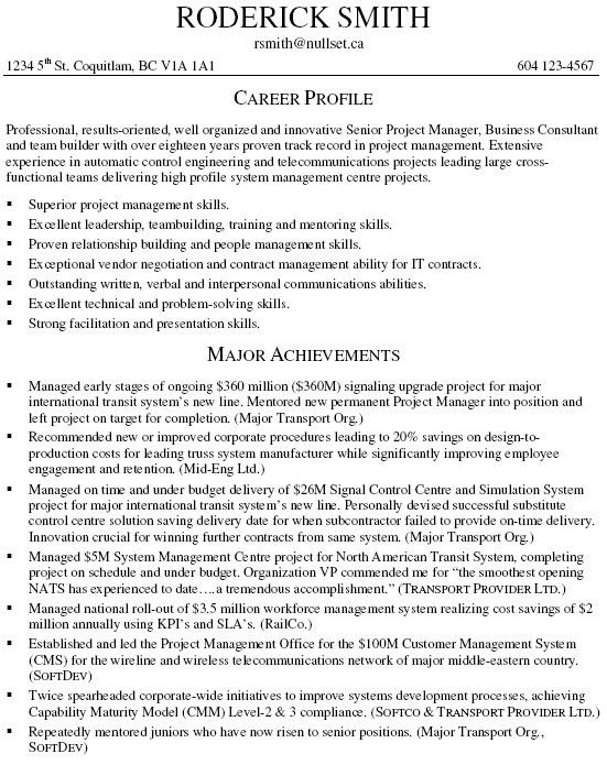 Business Consultant Resume Example - Examples of Resumes