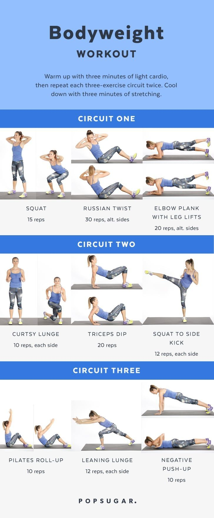 Bodyweight Workout Women | Tone and Strengthen Your Entire Body With This At-Home Workout | POPSUGAR Fitness Photo 11