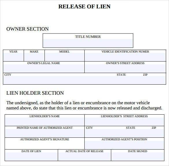 Waiver And Release Form Template Release Of Liability Form Waiver - release of lien form