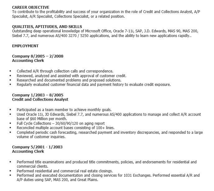 Accounting Clerk Resume Objective Best Accounting Clerk Resume