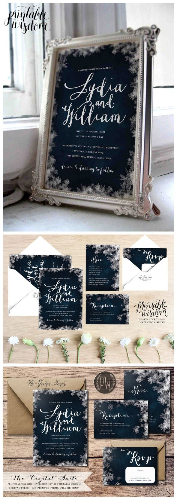 Large Of Winter Wedding Invitations