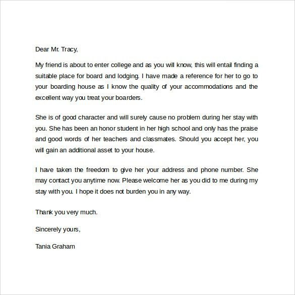 Reference Letter Example Reference Letter Template 37 Free Sample - landlord reference letter