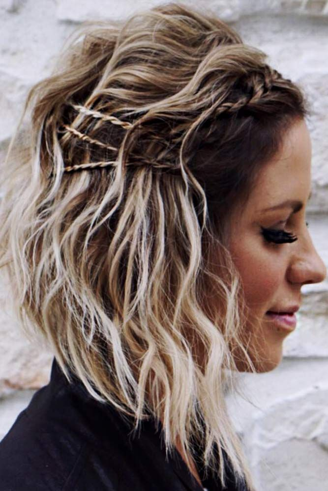 Beautiful Ombre Lob With Braid #braidedhairstyles #ombrehair ★ Cute and easy shoulder length hairstyles for thin and for thick hair can be found here. These styles can work for adult women and for teens. #glaminati #lifestyle #shoulderlengthhairstyles