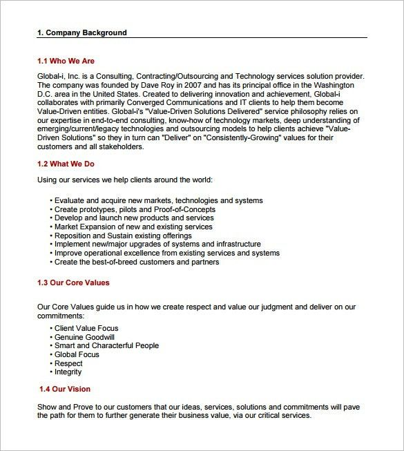 Business Consulting Proposal Template Consulting Proposal - service quote template