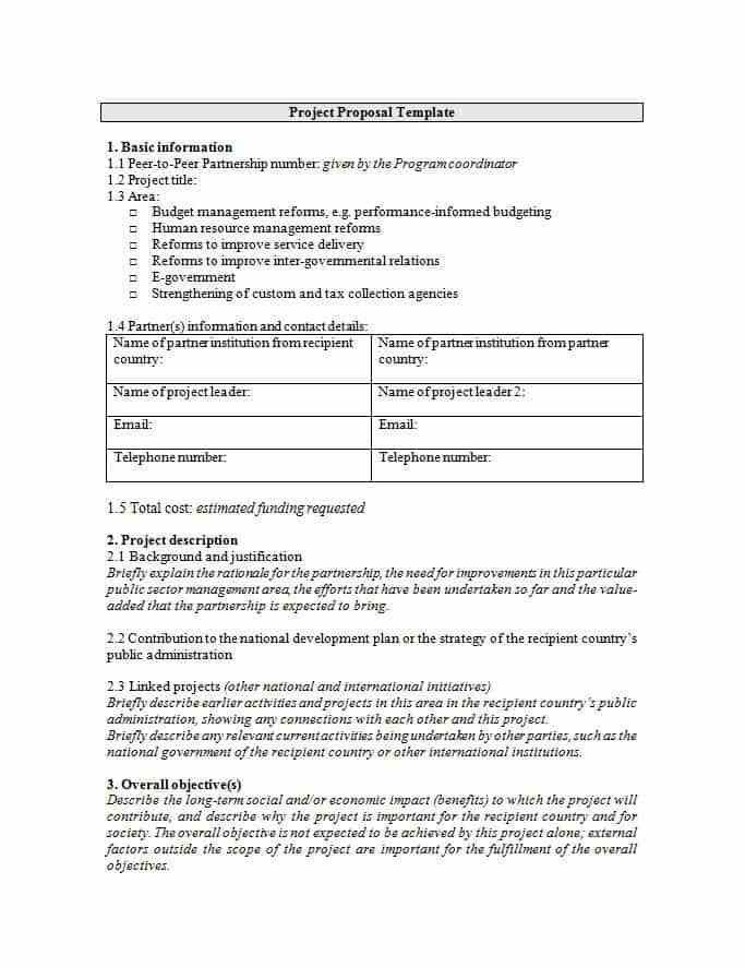 Professional Proposal Template Sample Professional Proposal - funding proposal template