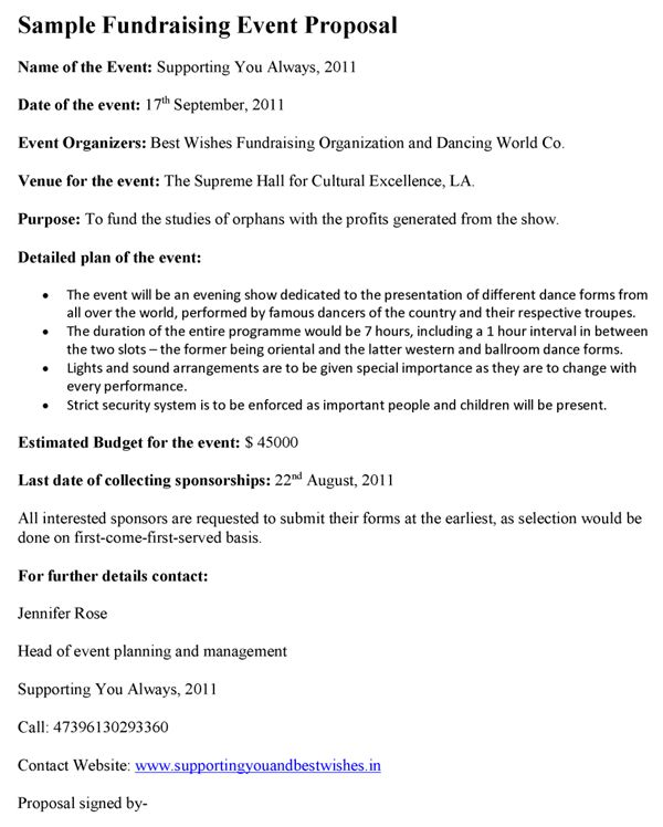 Proposal For Event Craft A Perfect Event Proposal Template Now - event proposal letters