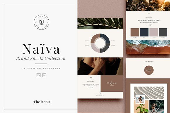 Naiva - Brand Sheets Collection by The Iconic on @creativemarket
