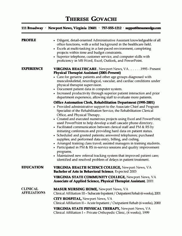 Medical Administrative Assistant Resume Sample Resume - medical administrative assistant resume