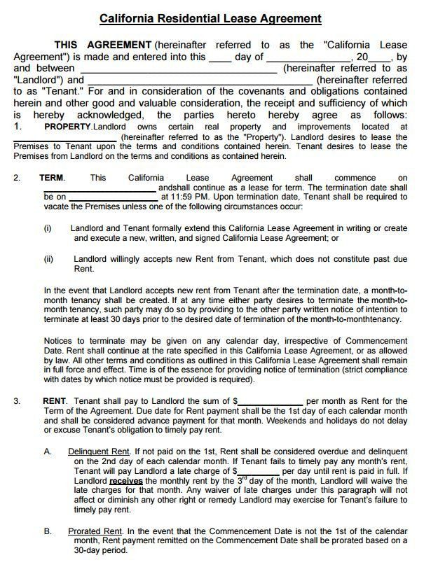 Download Lease Commercial Rental Agreement 11 Free Word Pdf - free rental lease agreement download