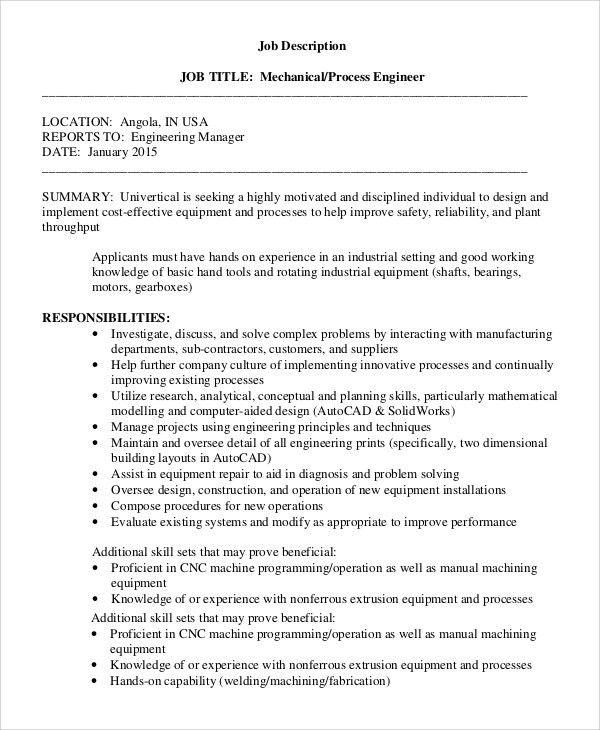Cnc Programmer Job Description Sample Of Job Description Of Cnc - petroleum engineer job description