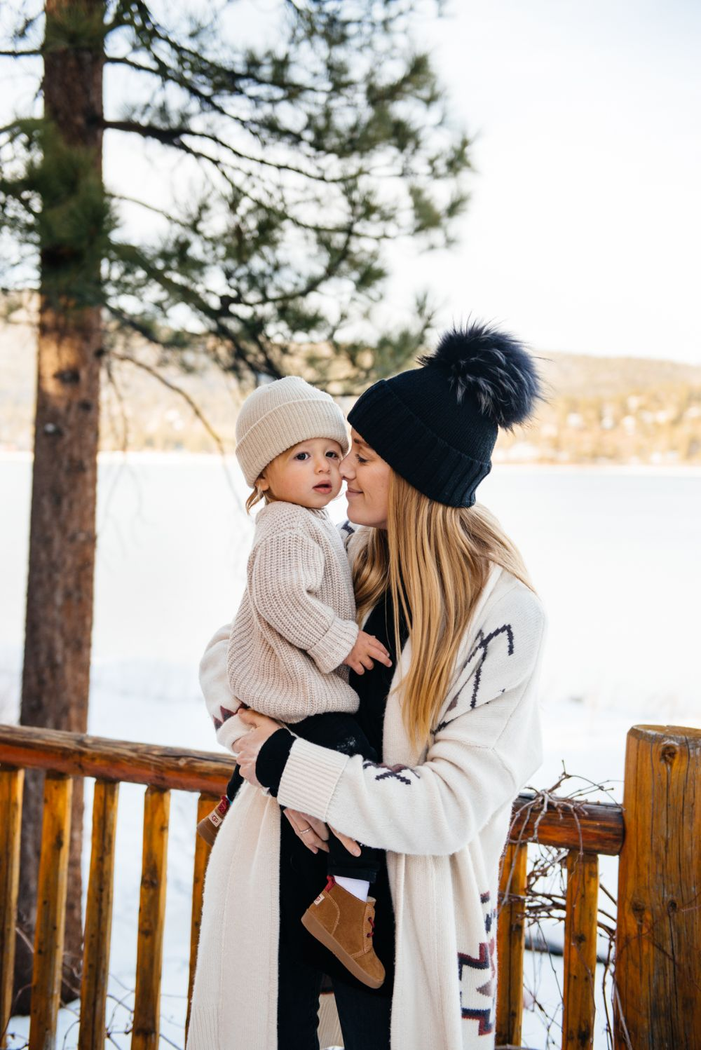 Big Bear with Otis // Toddler Tips for a Snow Weekend // mommy and son // cabin weekend style // www.eatsleepwear.com