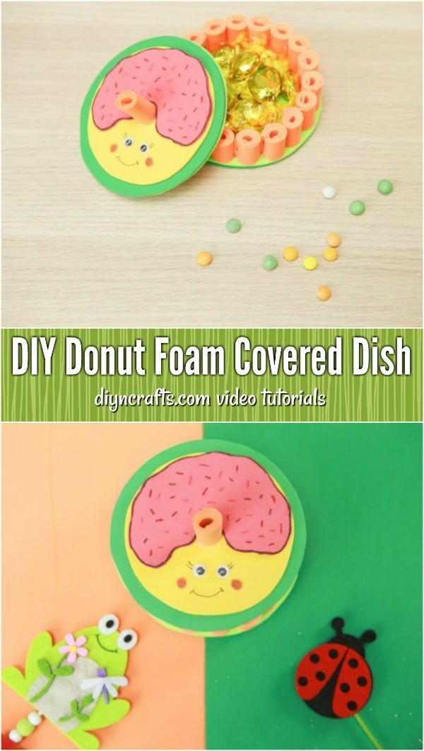 How To Make A Whimsical Donut Foam Covered Dish