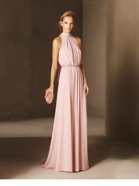 Sweet cocktail light pink dress