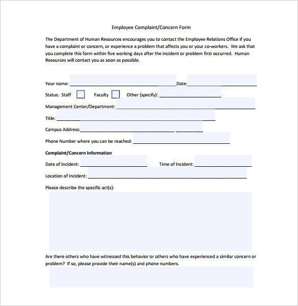 Complaint Forms Template Customer Complaint Form Template Sample - sample consumer complaint form