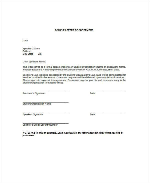Payment Agreement Letter Installment Payment Agreement Template - monthly payment contract template