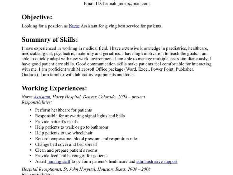 nursing responsibilities for resumes