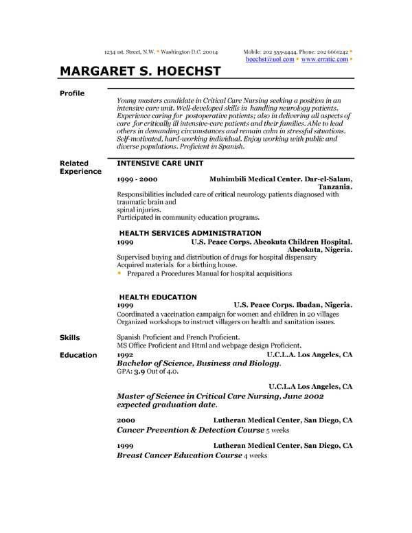 what to write in profile of resumes