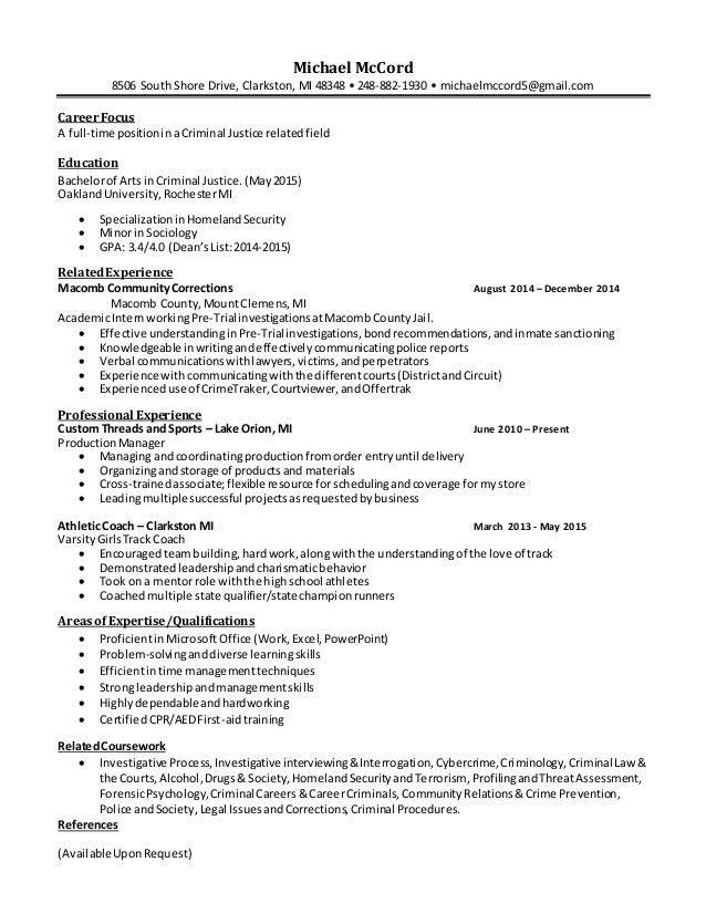 Pretrial Officer Sample Resume Pretrial Officer Sample Resume