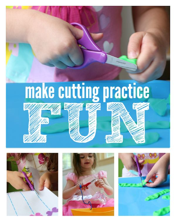 Make Cutting Practice Fun - No Time For Flash Cards