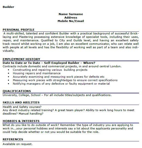 resume interest examples