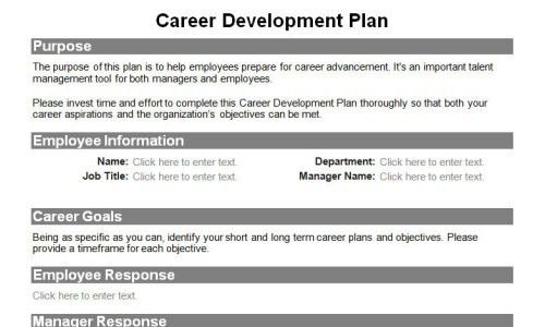 Development Plan Template For Employees Employee Development Plan - employee development plan template free