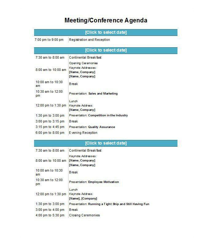Agenda Form Free Meeting Agenda Template Sample Meeting Agendas - event agenda sample