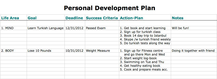 ... Pdp Plan Example Examples Of Staff Development Plans Example Of    Personal Action Plan Template ...  Pdp Plan Example