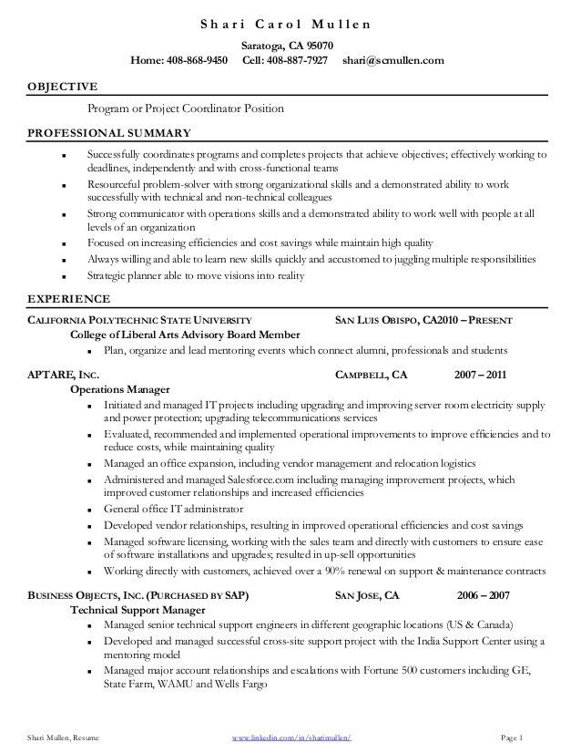 High Quality Program Coordinator Resume Program Coordinator Resume Throughout Program Coordinator Resume