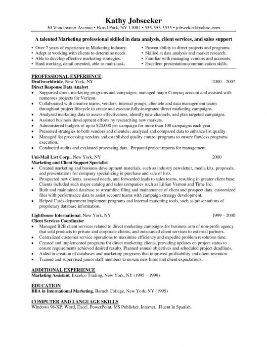 Market Research Resume Objective] Analyst Resume, Top 8