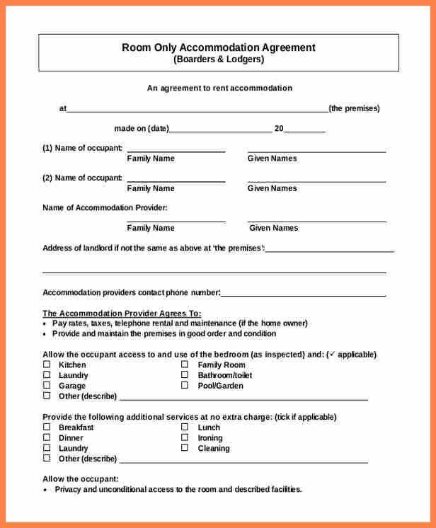 Simple Lease Agreement Free 15 Basic Rental Agreement Templates - lease extension agreement template