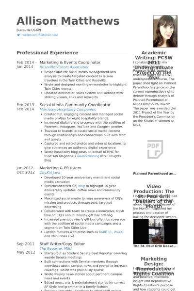 marketing coordinator resume sample marketing coordinator resume events coordinator resume - Marketing Coordinator Resume