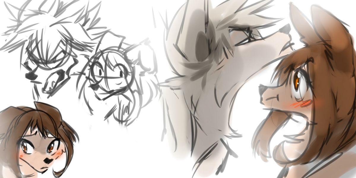 wolf bakugou katsuki  wolf uraraka ochako  anime