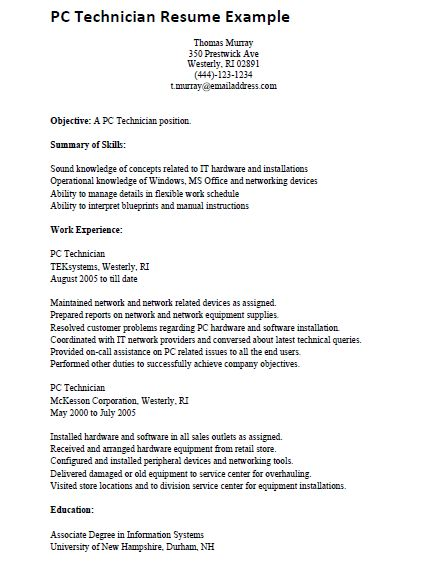 Computer Tech Cover Letter Professional Computer Technician Cover - computer technician resume sample