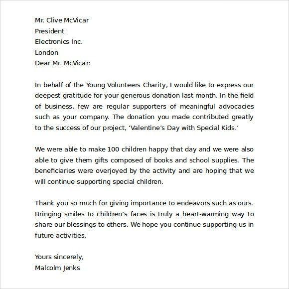 volunteer appreciation letter sample volunteer thank you letter sample thank you for your business letter - Volunteer Appreciation Letter Sample