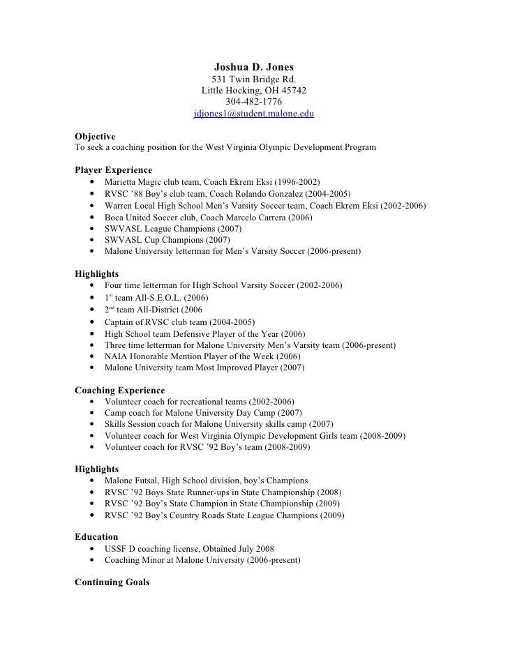 Coaching resume objective examples examples of resumes coach resume example coach resume example sample head coach altavistaventures