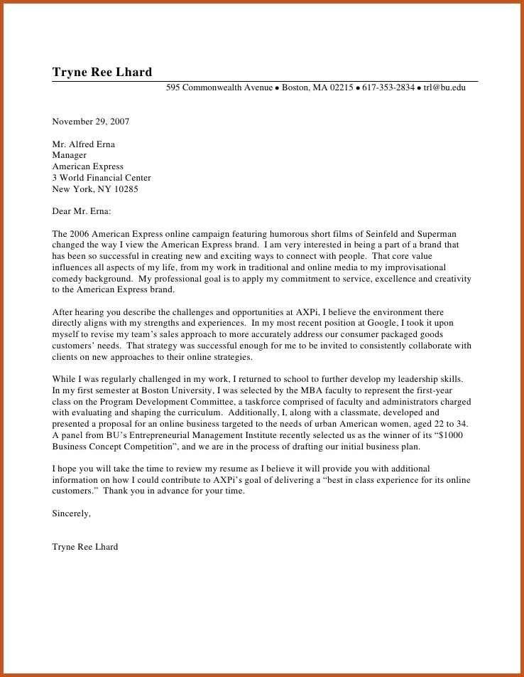 Examples Of Good Cover Letters Letter Example 3