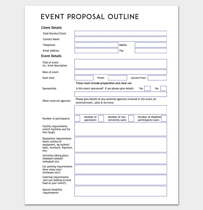 Event Proposal Craft A Perfect Event Proposal Template Now   Event Proposal  Outline