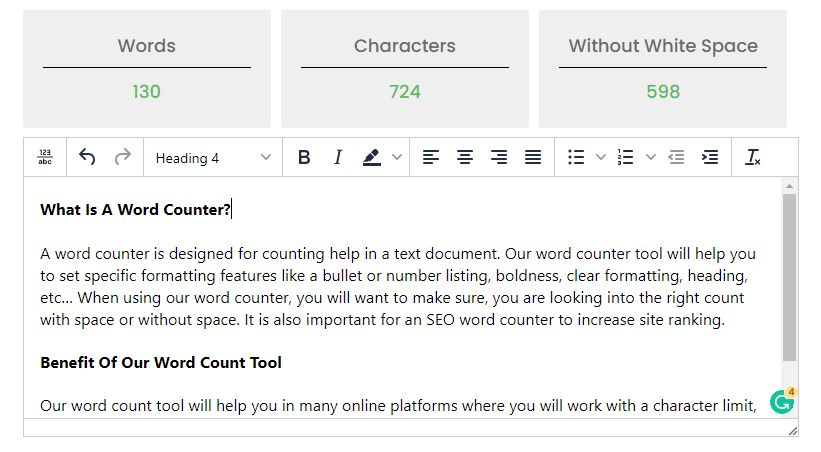 Word Counter, Character Count Tool