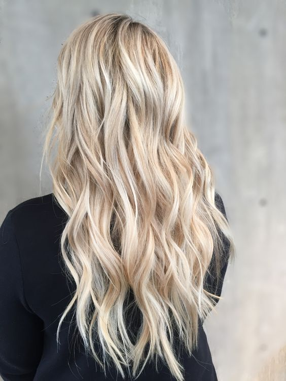 VeSunny Balayage Clip in Hair Extensions Thick Double Weft Clip in Real Remy Color #18 Ash Blonde Mixed #613 Bleach Blonde Hair Extensions 7pcs 120Gram Per Package #18/613 #VeSunny