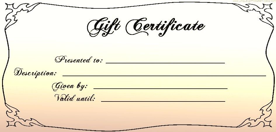 Blank Gift Certificates Templates Click Here For Full Size - free template gift certificate