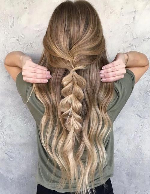 """13+ Large Half Fishtail braids on long silky hair for women to get an amazing look <a class=""""pintag"""" href=""""/explore/Braidedhairstyles/"""" title=""""#Braidedhairstyles explore Pinterest"""">#Braidedhairstyles</a><p><a href=""""http://www.homeinteriordesign.org/2018/02/short-guide-to-interior-decoration.html"""">Short guide to interior decoration</a></p>"""