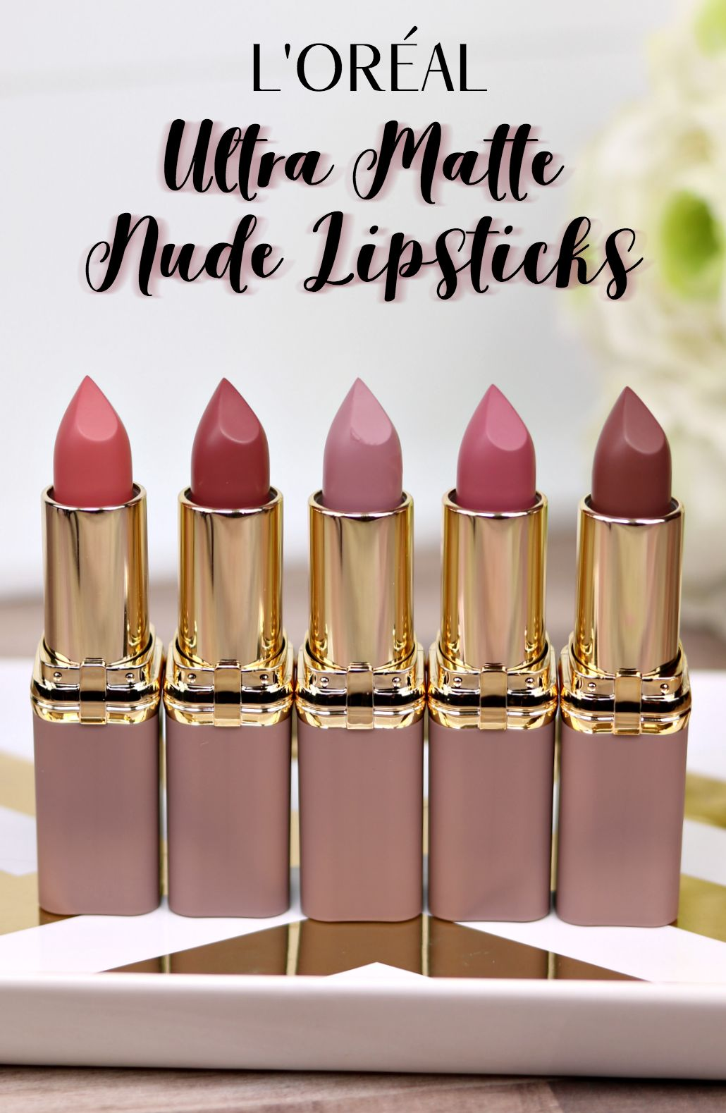 #LOreal Ultra Matte Nude #Lipstick Review