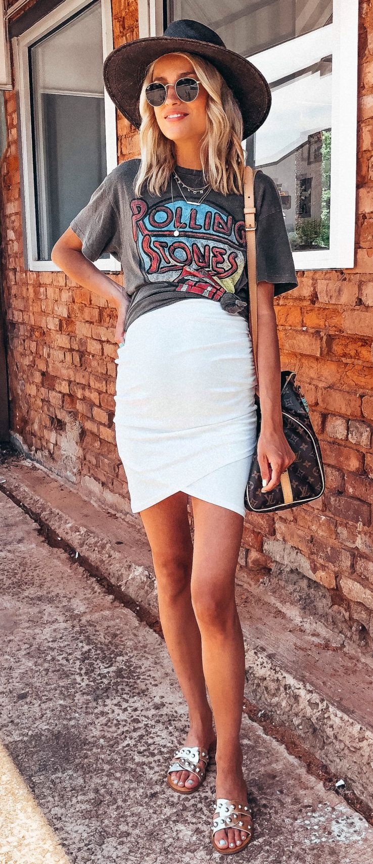 white pencil skirt #summer #outfits