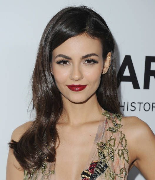 Actress Victoria Justice arrives at amfAR Los Angeles 2017 at Ron Burkleâs Green Acres Estate on October 13 2017 in Beverly Hills Californi