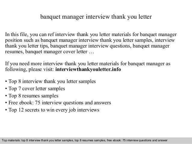 sample banquet manager resume